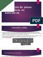 Modelación de Piezas Automotrices en AutoCAD 3d