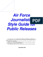 A f Journalistic Style Guide December 2013