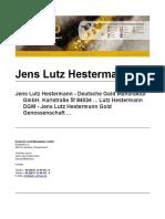 Jens Lutz Hestermann Gold Genossenschaft