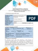 Guía de Actividades y Rúbrica de Evaluación - Fase 2 - Planeación Del Desarrollo