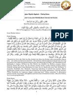 Makalah Kajian Shahih Muslim Kitabul Fitan 19 Agustus 2019