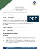 5. Formal Request for Voluntary Redundancy