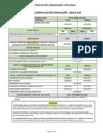 Calendário Acadêmico 2019 2 EAD - Pós-Graduação - Atualizado 31 05 19