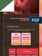Fisiología Cardiovascular Fetal y Neonatal