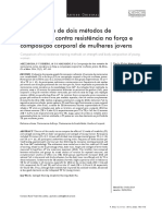 Artigo - Comparação de Dois Métodos de Treinamento Contra Resistência Na Força e Composição Corporal de Mulheres Jovens
