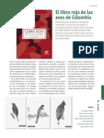 Ficha de libro rojo de aves