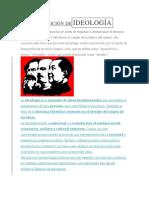 Definición de Ideología