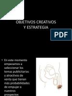 OBJETIVOS CREATIVOS