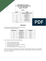 Homeworks and Exams Energy Balance