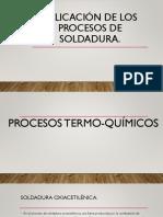 Aplicación de Los Procesos de Soldadura