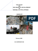 Summary of Final Report Complete Recycling Philippine Setting