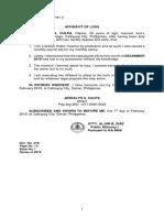 Affidavit of Loss_pay Slip