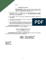 Affidavit of Loss_TIN ID
