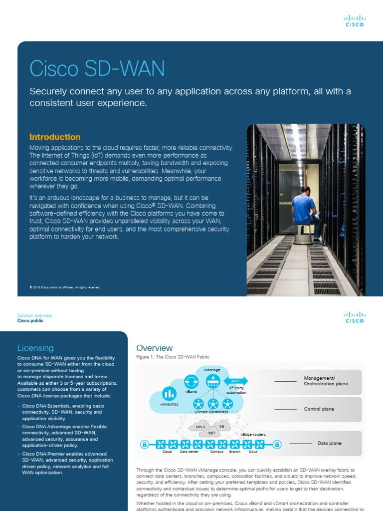Cisco Sd Wan Cloud Computing Cisco Systems
