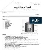 task 8 investigation - energy from food 2019