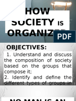 How Society is Organized.....