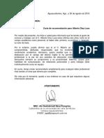 Carta de Recomendación Académica