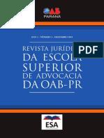 Revista Juridica da escola superior de advocacia da oab-pr
