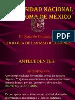 Etiologia maloclusiones