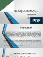 Obtención de butanol
