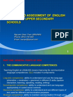 Testing and Assessment of English at Lower & Upper Secondary Schools