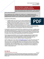 elementary literacy academic language for edtpa