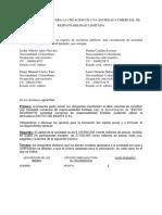 Acta Minuta Para La Creacion de Una Sociedad Comercial de Responsabilidad Limitada (1)