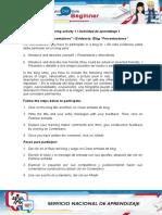 Evidence Blog Presentations.doc