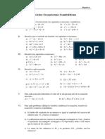 Ecuaciones Cuadraticas