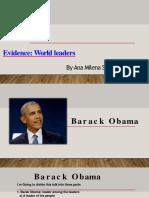Evidence  World leaders.pptx