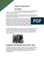 Historia Militarista