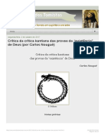 """Estudos tomistas_ Crítica da crítica kantiana das provas da """"existência"""" de Deus"""