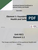 IGC1 Element 1 New Syllabus