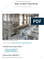 electrical thumb rule