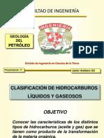 Clasificacion de hidrocarburos liquidos y gaseosos