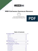 Midi Continuous Controller Reference Rev c English
