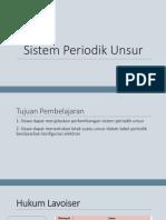 Ppt Sistem Periodik Unsur