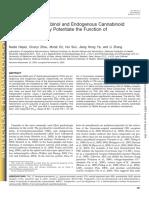 Tetrahydrocannabinol and Endogenous Cannabinoid Anandamide Directly Potentiate the Function of Glycine Receptors