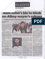 Philippine Dailiy Inquirer, Sept. 2, 2019, Slain solon's kin to block ex-Albay mayor's release.pdf