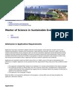 Hamad Bin Khalifa University - Master of Science in Sustainable Energy - 2018-11-05