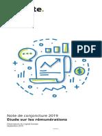 Note de Conjoncture - Étude 2019