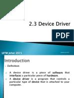2.3 Device Driver.pptx