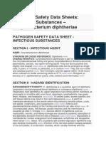 Pathogen Safety Data Sheets