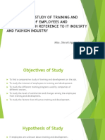A Comparative Study of Training and Development Of