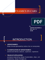 Aerodynamics in Cars