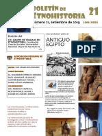 Boletín de Etnohistoria Numero 21