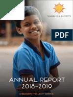 Makkala Jagriti Annual Report 2018 2019