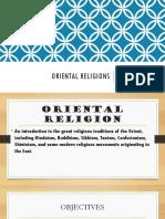 Oriental Religions