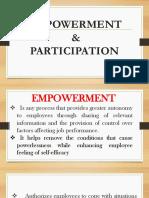 Empowerment & Paticipation
