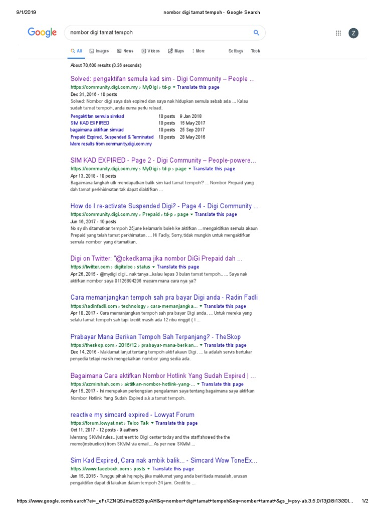 Nombor Digi Tamat Tempoh Google Search